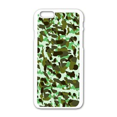 Brownish Green Camo Apple Iphone 6/6s White Enamel Case