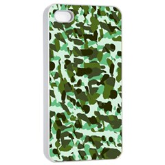 Green Camo Apple Iphone 4/4s Seamless Case (white)