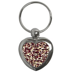 Red Camo Key Chains (heart)