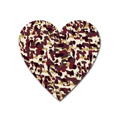 Red Camo Heart Magnet