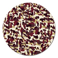 Red Camo Magnet 5  (round)