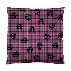Pink  Plaid Anarchy Standard Cushion Case (one Side)