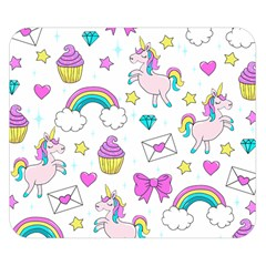 Cute Unicorn Pattern Double Sided Flano Blanket (small)