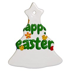 Happy Easter Christmas Tree Ornament (two Sides)
