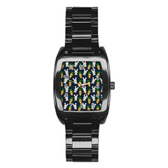 Easter Kawaii Pattern Stainless Steel Barrel Watch