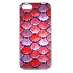 Red Mermaid Scale Apple Seamless Iphone 5 Case (clear)
