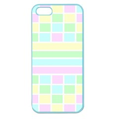 Geometric Pastel Design Baby Pale Apple Seamless Iphone 5 Case (color)