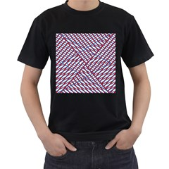 Abstract Chaos Confusion Men s T Shirt (black)