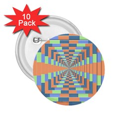 Fabric 3d Color Blocking Depth 2 25  Buttons (10 Pack)