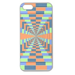 Fabric 3d Color Blocking Depth Apple Seamless Iphone 5 Case (clear)