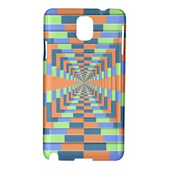 Fabric 3d Color Blocking Depth Samsung Galaxy Note 3 N9005 Hardshell Case