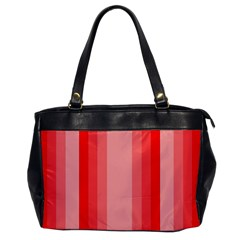 Red Monochrome Vertical Stripes Office Handbags