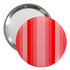 Red Monochrome Vertical Stripes 3  Handbag Mirrors