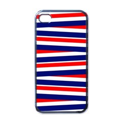 Red White Blue Patriotic Ribbons Apple Iphone 4 Case (black)