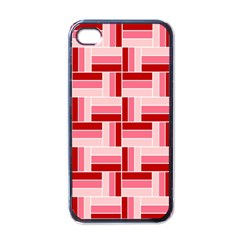 Pink Red Burgundy Pattern Stripes Apple Iphone 4 Case (black)