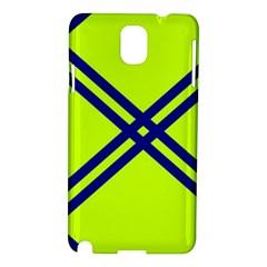 Stripes Angular Diagonal Lime Green Samsung Galaxy Note 3 N9005 Hardshell Case