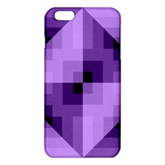 Purple Geometric Cotton Fabric Iphone 6 Plus/6s Plus Tpu Case