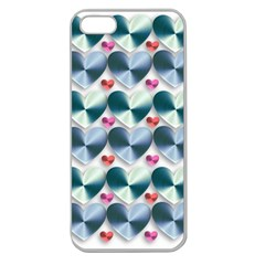 Valentine Valentine S Day Hearts Apple Seamless Iphone 5 Case (clear)