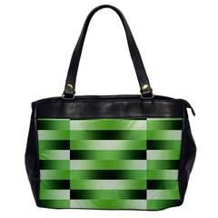 Pinstripes Green Shapes Shades Office Handbags