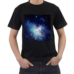 Nebula Blue Men s T Shirt (black)
