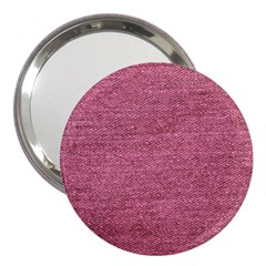 Pink  Denim 3  Handbag Mirrors