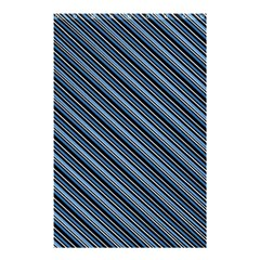 Diagonal Stripes Pinstripes Shower Curtain 48  X 72  (small)
