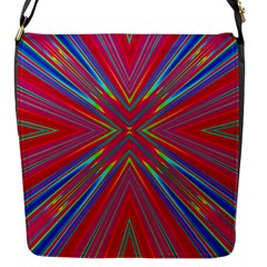 Burst Radiate Glow Vivid Colorful Flap Messenger Bag (s)