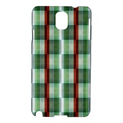 Fabric Textile Texture Green White Samsung Galaxy Note 3 N9005 Hardshell Case