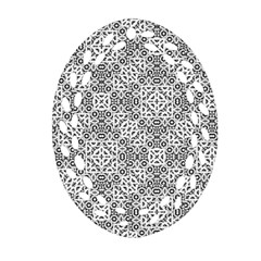 Black And White Oriental Ornate Ornament (oval Filigree)
