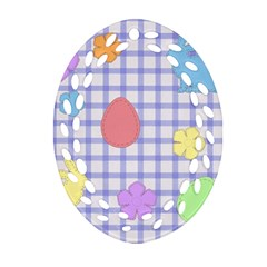 Easter Patches  Ornament (oval Filigree)