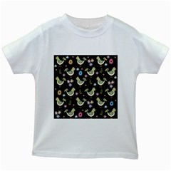 Easter Pattern Kids White T Shirts