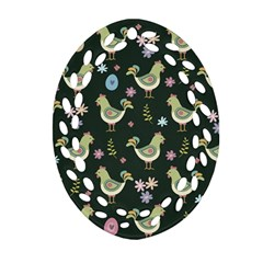 Easter Pattern Oval Filigree Ornament (two Sides)
