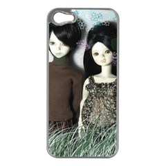 Dolls In The Grass Apple Iphone 5 Case (silver)