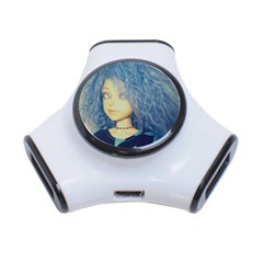 Blue Hair Boy 3 Port Usb Hub