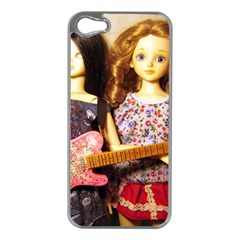 Playing The Guitar Apple Iphone 5 Case (silver)