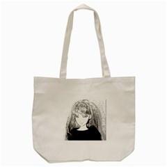 Girl Tote Bag (cream)