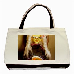Eating Lunch Basic Tote Bag