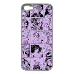Lilac Yearbook 1 Apple Iphone 5 Case (silver)