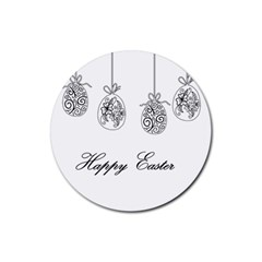 Easter Eggs Rubber Coaster (round)