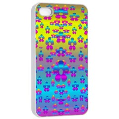 Flowers In The Most Beautiful Sunshine Apple Iphone 4/4s Seamless Case (white)