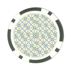 Vivid Check Geometric Pattern Poker Chip Card Guard (10 Pack)