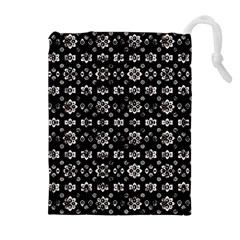 Dark Luxury Baroque Pattern Drawstring Pouches (extra Large)
