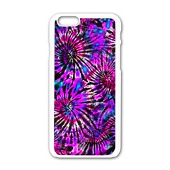 Purple Tie Dye Madness  Apple Iphone 6/6s White Enamel Case