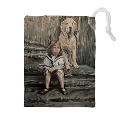 An Old Friend Drawstring Pouches (extra Large)