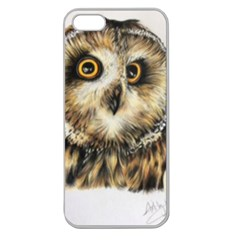 Owl Apple Seamless Iphone 5 Case (clear)