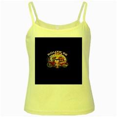 Route 66 Yellow Spaghetti Tank