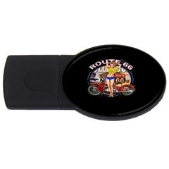 Route 66 Usb Flash Drive Oval (4 Gb)