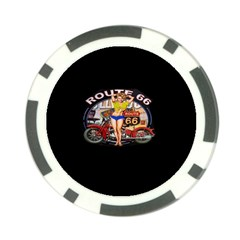 Route 66 Poker Chip Card Guard