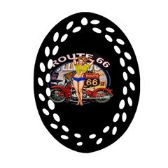 Route 66 Ornament (oval Filigree)