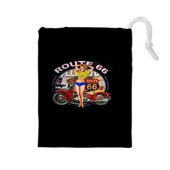 Route 66 Drawstring Pouches (large)